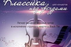 Струнный квартет Блэк Тай - концерт Классика под звездами