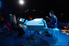 Выступление квартета Блэк Тай с пианистом-виртуозом Евгением Хмарой на пикнике Славы Фроловой