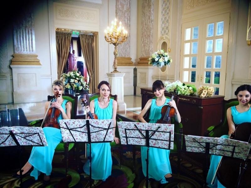 Струнный квартет «Black Tie» (Блэк Тай) mint wedding