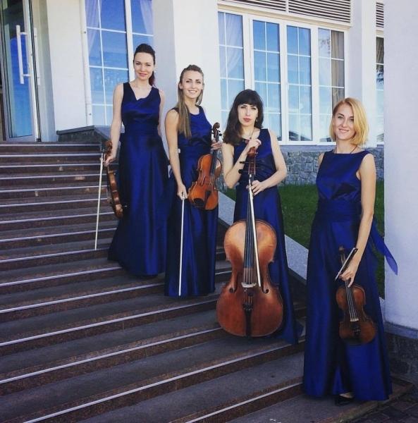 Струнный квартет «Black Tie» (Блэк Тай) свадьба в синем
