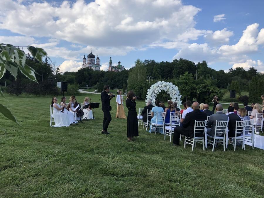Свадебная арка в парке Феофания